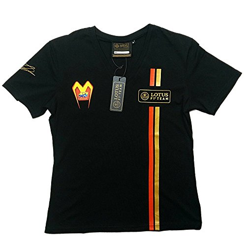 T-SHIRT Tee Ladies Formula One 1 Lotus F1 Team NEW Iceman Raikkonen Black