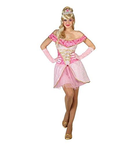 Atosa - Disfraz de mujer corto princesa de cuento, color rosa, M-L (22880)