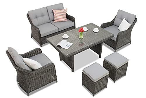 Garden Point Toledo MAX 4 Atracita   Elegante Juego de Muebles para Cada jardín.
