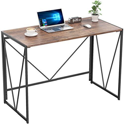 NOBLEWELL Schreibtisch, ohne Montage klappbarer Schreibtisch, Sturdy Arbeitstisch, Haus Arbeitstisch aus HolzL100 x W50 cm für studieren, arbeiten usw. Braun