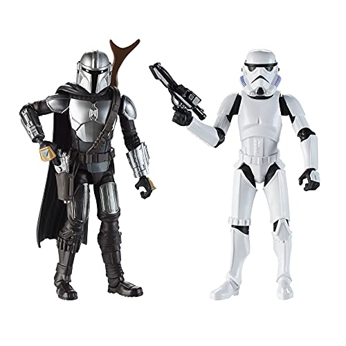 Star Wars Galaxy of Adventures The Mandalorian 5-Inch-Scale Figure 2 Pack with Fun Blaster Accessories, Toys for Kids Ages 4 and Up (Amazon Exclusive),F3892