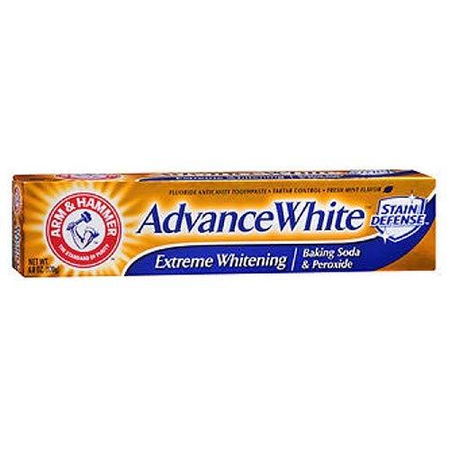 Arm & Hammer Advance Toothpaste Baking Soda Peroxide Tartar Control, White, 6 Ounce