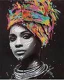 NOBRAND Pintar por numeros Adultos Pintura al óleo para Colorear Digital Acrílico Adulto Niño 2020 Nueva Mujer Africana Usado Decoración del hogar Arte Regalo Navidad sin Marco 40x50 cm