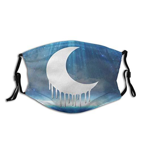 XIHUAN Edgy Goth Halbmond Tuch waschbar – verstellbare Baumwolle Gesichtsmaske Unisex Erwachsene für Damen und Herren