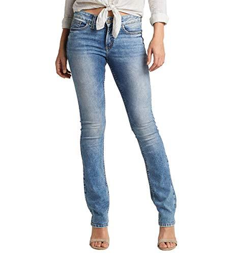 Silver Jeans Co. Damen Elyse Slim Boot Jeans, Mittelleichte Indigo-Waschung, 30W x 33L