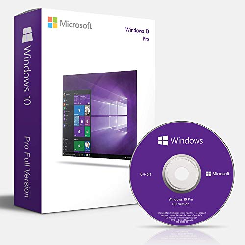 Windows 10 Professional 64 Bits OEM DVD - Licencia Windows 10 Pro 64 Bits Español