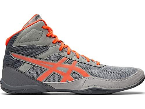 ASICS Men's Matflex 6 Wrestling Shoes, 12.5M, Stone Grey/Flash Coral