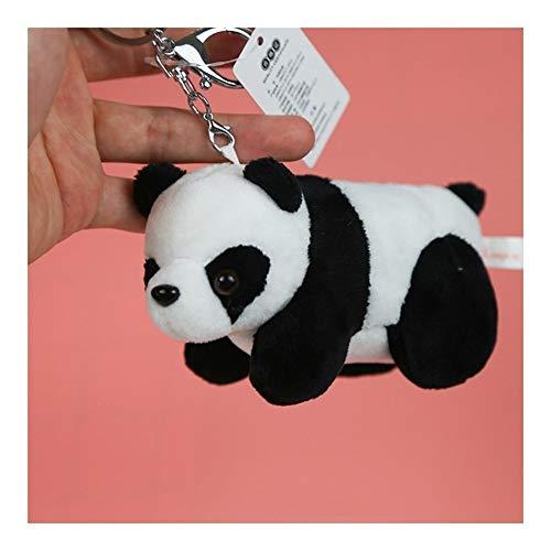 YUNGYE 10cm Mignon en Noir et Blanc Panda géant Personnage en Peluche Porte-clés Creative Cartoon téléphone Portable Sac Pendentif Fluffy Cartoon (Color : Black and White, Size : 10 cm)