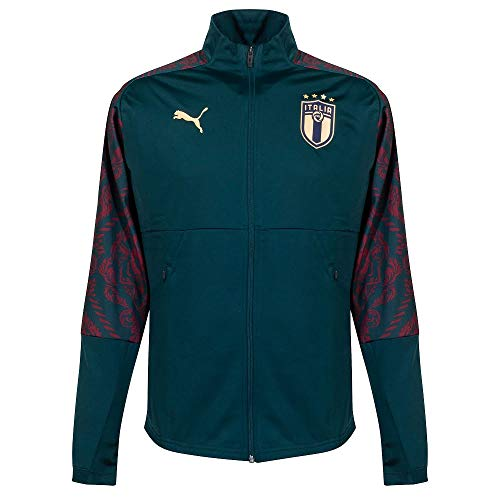 PUMA Herren FIGC Stadium Third Jacket Trainingsjacke, Ponderosa Pine-Cordovan, XL