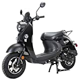 X-PRO 50cc Gas Moped Scooter Adult Scooter Bike Street Scooter Moped 50cc with 10' Aluminum Wheels! (Black)