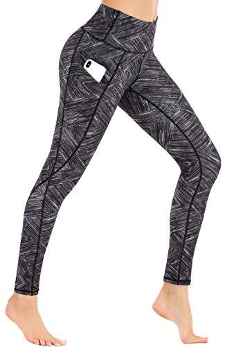 Ewedoos Leggings for Women with Pockets Printed Yoga Pants for Women High Waist Yoga Leggings with Pockets Workout Leggings (Fancy Rhombus, Medium)