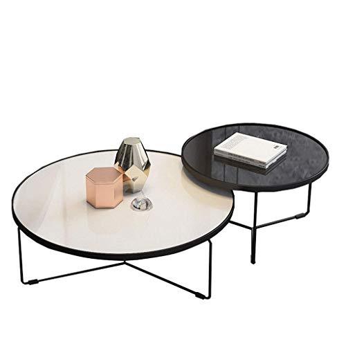 WGFGXQ Nesting Couchtisch Set, 3 runde Beistelltisch aus gehärtetem Glas mit Metallbeinen, Stapel Beistelltisch Sofa Tisch Cocktail Tisch, für Wohnzimmer Home Office