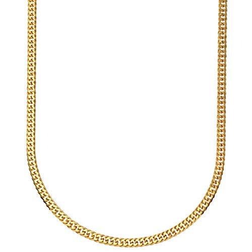 [フェアリーカレット] 24金ネックレス K24 6面W喜平チェーン 日本製 純金 検定印 15g 50cm 引き輪