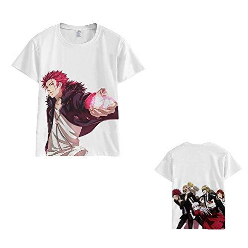 Unisex 3D Printed Cool Anime K Project Neko & Kushina Anna & Suoh Mikoto & Isana Yashiro T-Shirts (8 Colors)