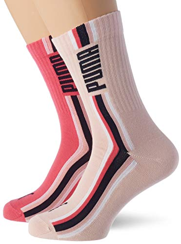 PUMA PUMA Seasonal Stripe Girl's Socks (2 pack) Casual Sock, unisex-child, Mehrfarbig 39/42 EU