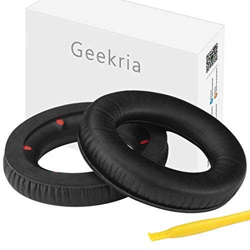 Geekria - Almohadillas de Repuesto para Auriculares HyperX Cloud Revolver Ear Pad de Repuesto para HyperX Revolver S Gaming Headset Ear Cushion Ear Cups Ear Cover Earpads Repair Parts (Negro)