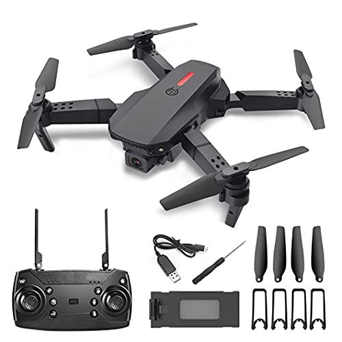 JJDSN Drone, Drone con Telecamera HD Regolabile WiFi, Elicottero Giocattolo 2.4G 4CH Mini Drone con Telecamera per Adulti Nero
