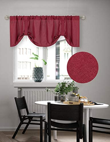 Home Queen Tie Up Shade Curtain Valance Window Treatment for Living Room Adjustable Balloon product image