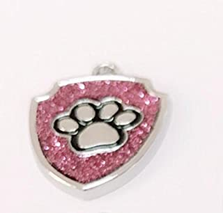 Polykor Useful Shield-Shaped Dog Paw Pattern Pet Necklace Accessories Dog Tag(Purple