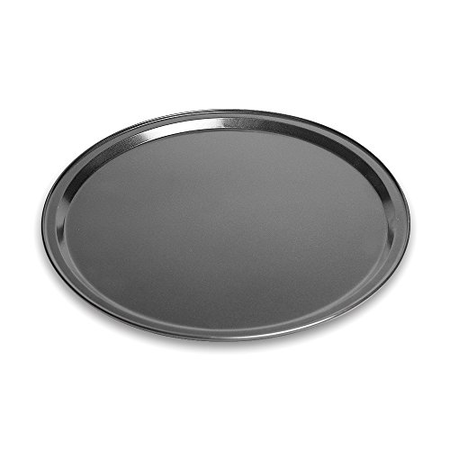 Pizza Pan Made of Aluminum Black Pizza Tray by Topenca Supplies (10-inches)
