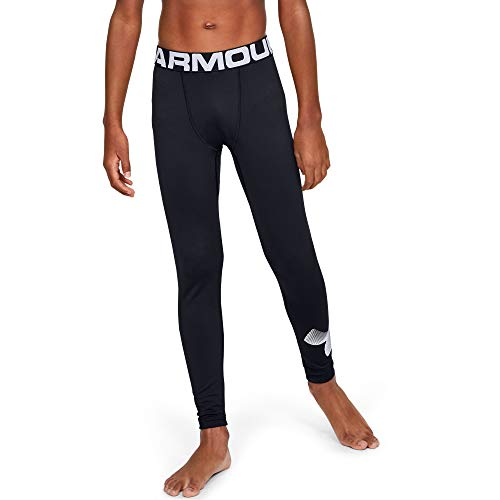 Under Armour Jungen Legging ColdGear Armour Leggings, Schwarz, YMD, 1343271-001