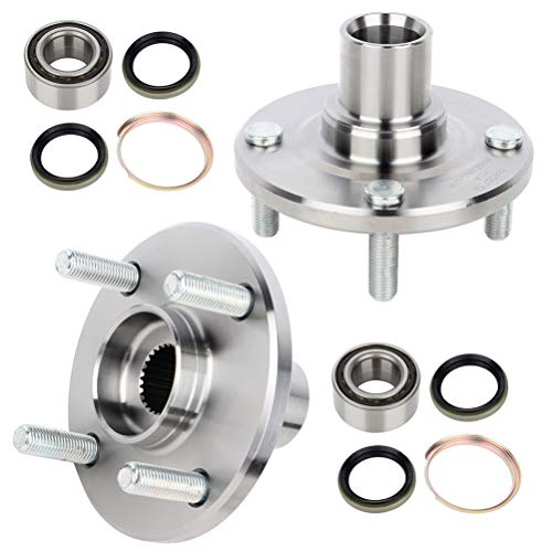 cciyu 518507 Wheel Hub and Bearing Assembly Replacement for fit 1988-2002 Toyota Corolla Chevrolet Prizm Geo Prizm Front Left or Right Wheel Hubs without ABS 4 Lugs (2)