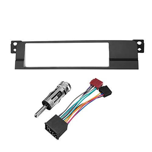 Rumors 1 DIN Car Radio Stereo Facia Facia Adaptador DVD Kit De Ajuste Ajuste para BMW E46 1999-2006 (Color Name : Black)