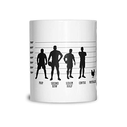 Lplpol Joke Sports Mug Rugby Vs Football Chicken Lineup Funny Match 15 oz