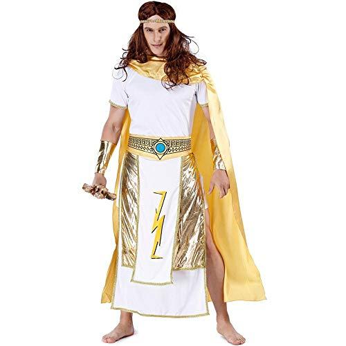 COX König KöniginCosplay Kostüm,Gott des Krieges Paar Alten Agyptischen Pharao Schickes Kleid Kostüm Bühnenkostüm Men