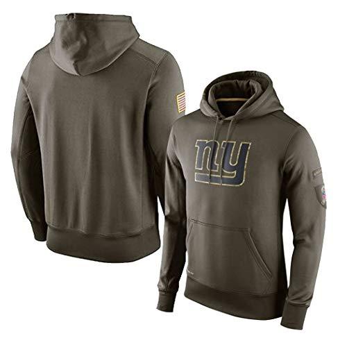 LELEHoodies Herren Kapuzenpullover für New York Giants American Football Casual Sport Grün Sweatshirt, grün, XL