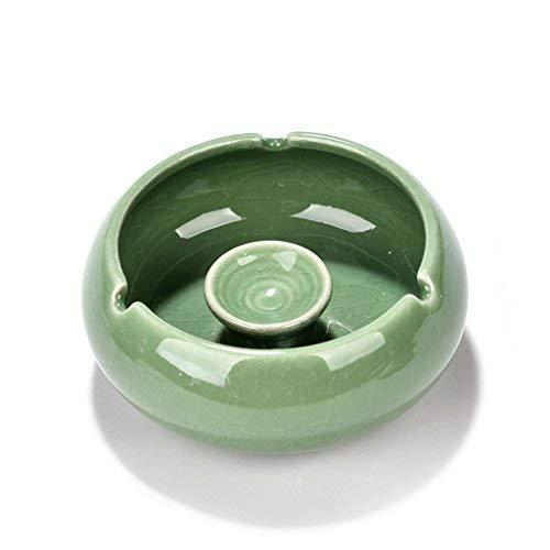 KANJJ-YU Cortaviento sin Tapa de Cristal Cenicero de Cristal Dormitorio de la Personalidad de la Sala Cenicero de cerámica