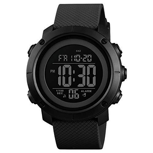 Skmei Black Digital Black Dial Sports Men's and Boy's Watch