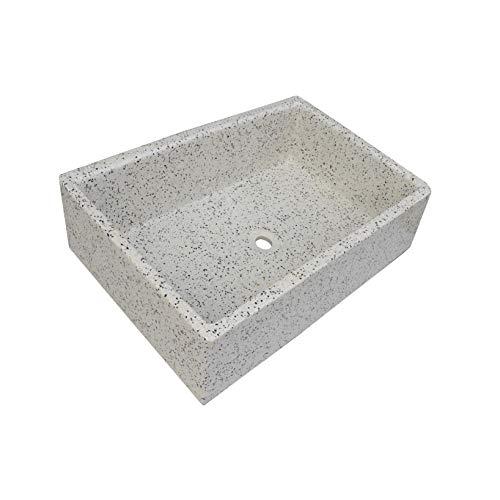 Terrazos Cantalejo - Pila, Pilón o pilona de Piedra Artificial Similar al Granito o mármol de 70x46x21 cm. (Dálmata)