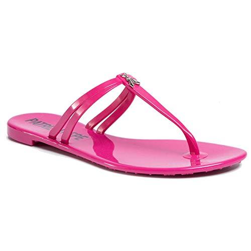 PATRIZIA PEPE Scarpe Donna Sandalo Infradito in Gomma Color Fuxia 2V9677 (Pink, Numeric_38)