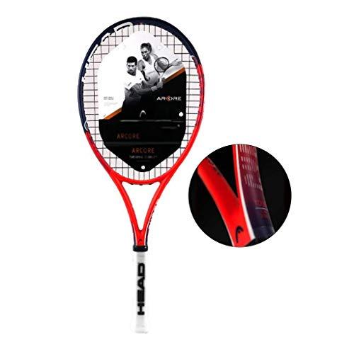 Chunjiao Raqueta de Tenis For Adultos niños Individual Principiante Compuesto de Carbono formación de los Estudiantes (Color : Red, Size : 69cm/27 Inches)