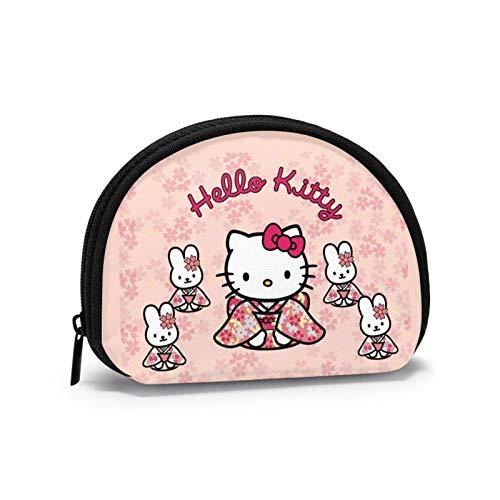 Hello Kitt lleva ropa japonesa tradicional unisex cartera con forma de concha para guardar pequeños billetes y billetes triviales