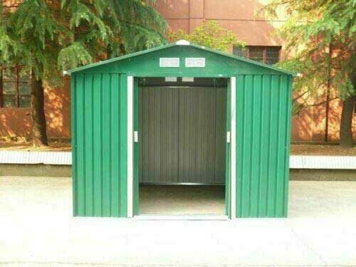 dirty pro tools METAL GARDEN SHED External 9ft 11' x 7Ft 9' With internal floor base