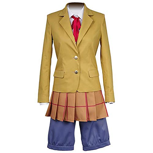 IFANSTYLE Anime Prison School Midorikawa Hana Cosplay Costume Halloween Karneval Party Damen Gymnasium Uniform Outfit,Gelb,S