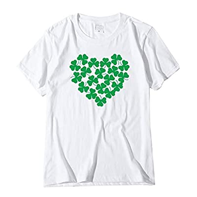 Goddesslili Womens Girls Tshirts St Patrick Day Lucky Shamrock Print Funny Cozy Tunic Shirt Daily Casual Festival Party Wear Multi Styles with Plus Size Available Fashion 2020 Gift for Her