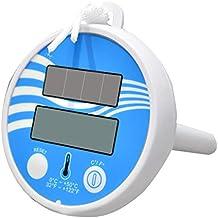 CUHAWUDBA TermóMetro Digital de EnergíA Solar para Nadar Piscina Flotante Spa Acuario