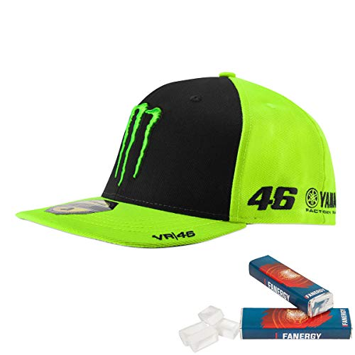 Valentino Rossi Cap Monster gelb + 2X FANERGY Traubenzucker