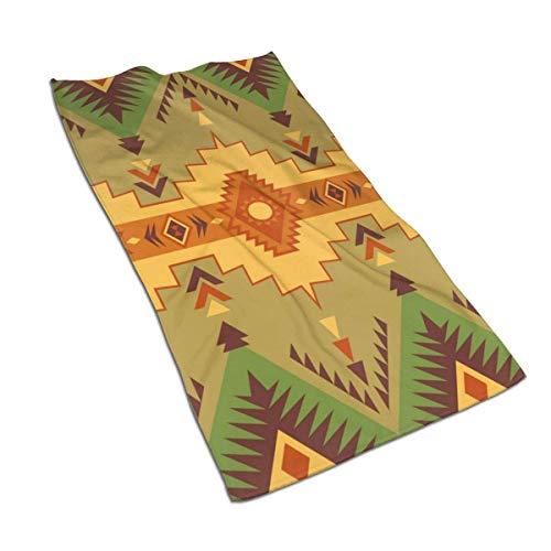 QHMY Native Southwest American Indian Aztec Navajo Microfiber Serviettes 27,5 'X 17,5' Polyester Personnalité Drôle Motif Super Absorbant pour Salle de Bains, Cuisine, Lavage de Voiture, Serviette de