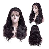 LEZDPP Density Lace Front Human Wig 13X4 Remy Invisible Transparent HD Brazilian Body Wavy Lace Front Wig for Black Women Hairpieces (Size : 18 inches)