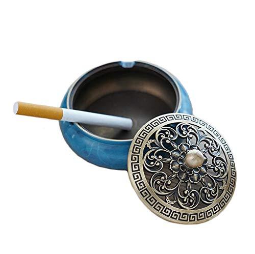 Cenicero, Z-Ash Cobre Cenicero de Cigarrillos for Fumadores Interiores Y Exteriores Papelera de Fumar for Escritorio for La Decoración de la Oficina en Casa (Color : B)