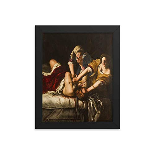 Vintage Images Artemisia Gentileschi's Judith Slaying Holofernes 1863 - Enhanced Matte Paper Framed Poster (8x10) - Black Frame