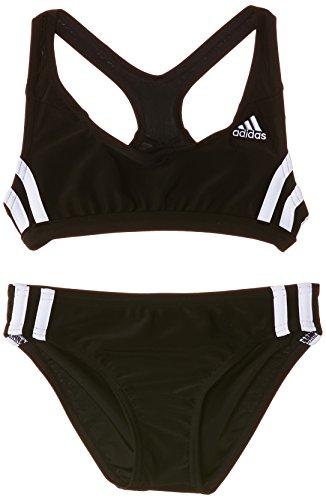 adidas Mädchenbikini, Infinitex, 3Streifen, zweiteilig schwarz Top: Black DD-C; Bottom: Black DD 164
