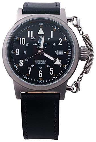Aeromatic A1331 - Reloj automático de piloto alemán 'Special Spring Crown Safe System'