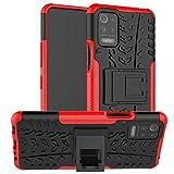 betterfon LG K52 Hülle Handyhülle LG K52 Cover Hülle Schutzhülle mit Aufstellfunktion für LG K52 Rot
