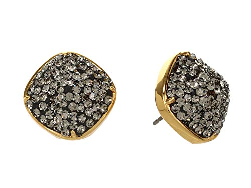 Kate Spade New York Clay Pave Small Square Studs Earrings Black One Size