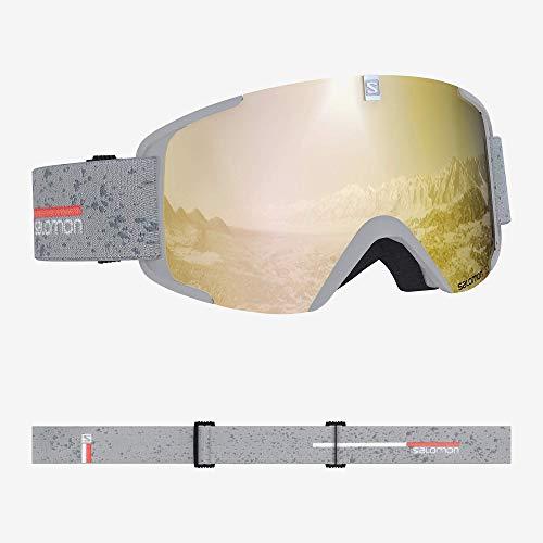 Salomon, Xview, Unisex-Skibrille, Weiß (White Matt)/Solar Bronze, L40519000